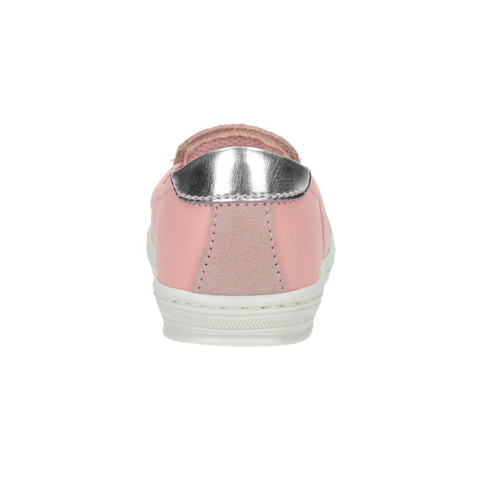 Detská kožená Slip-on obuv bubblegummers, ružová, 123-5600 - 17