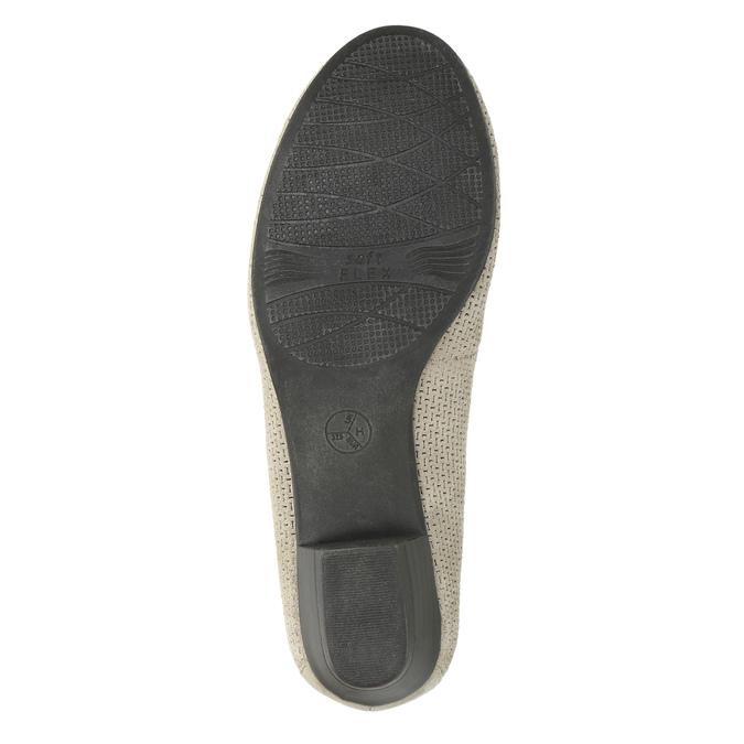Kožené lodičky šírky H bata, šedá, 623-2601 - 26