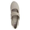 Kožené lodičky šírky H bata, šedá, 623-2600 - 15