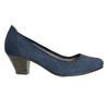 Kožené lodičky šírky H bata, modrá, 623-9602 - 15