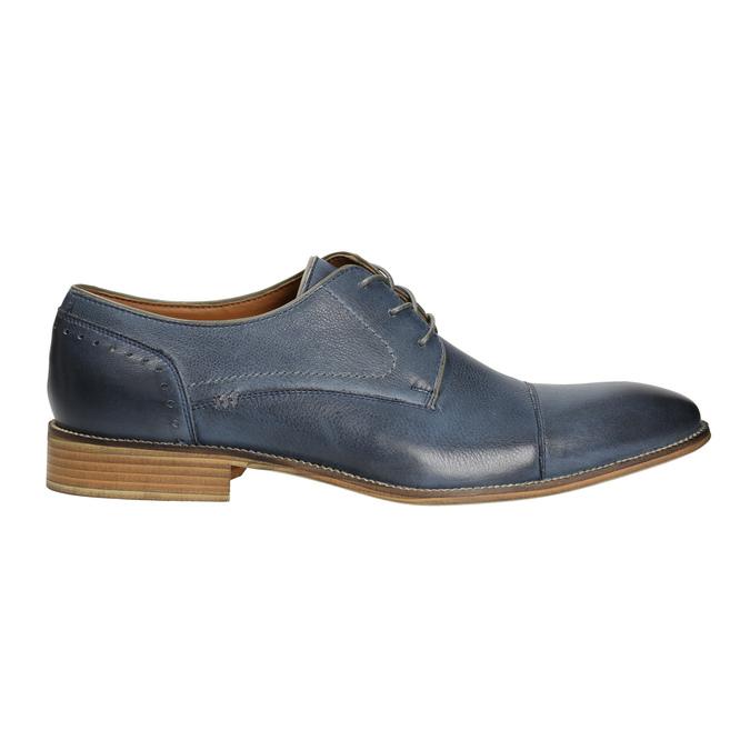 Modré kožené poltopánky bata, modrá, 826-9801 - 15