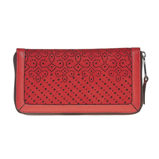 Červená dámska peňaženka bata, červená, 941-5147 - 17