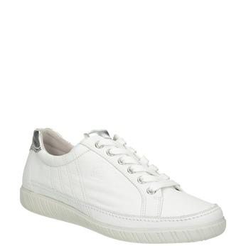 Biele kožené tenisky gabor, biela, 626-1204 - 13
