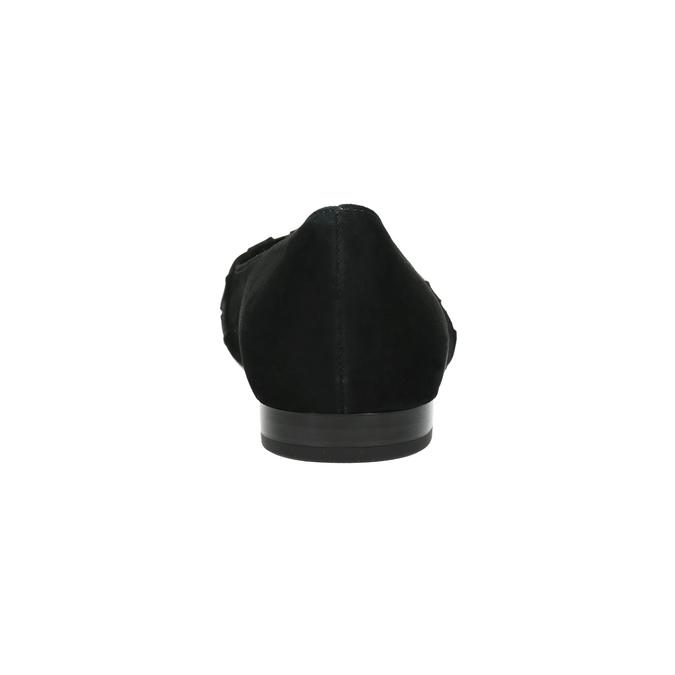 Kožené baleríny do špičky gabor, čierna, 523-6202 - 17