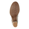 Dámske lodičky s remienkom cez priehlavok bata, šedá, 626-2641 - 26