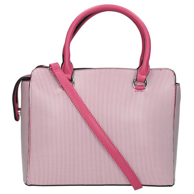 Pruhovaná dámska kabelka bata, ružová, 961-5747 - 19