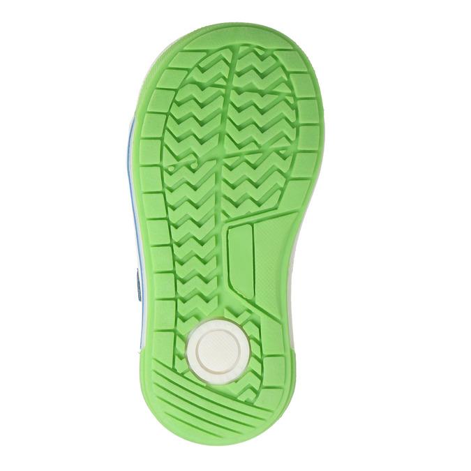 Detská kožená obuv na suchý zips bubblegummers, šedá, 116-2600 - 26