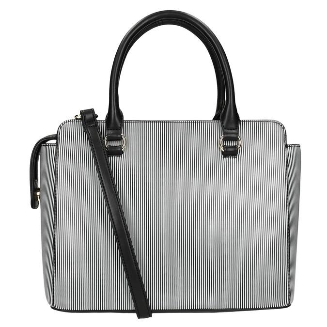 Pruhovaná kabelka bata, čierna, 961-6747 - 19