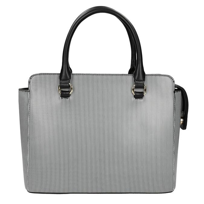 Pruhovaná kabelka bata, čierna, 961-6747 - 26