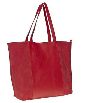 Kožená kabelka v Shopper štýle bata, červená, 964-5185 - 13