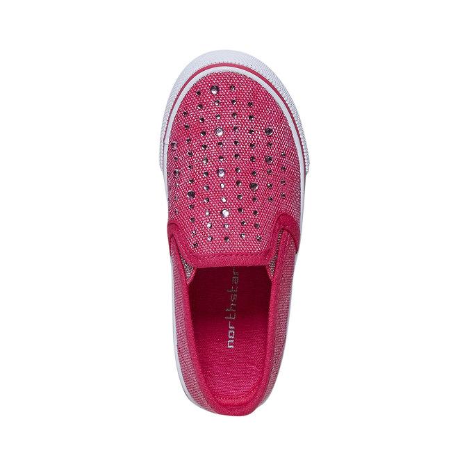Dievčenské Slip-on obuv s kamienkami north-star, ružová, 229-5193 - 19