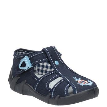 Detská modrá domáca obuv mini-b, modrá, 179-9600 - 13