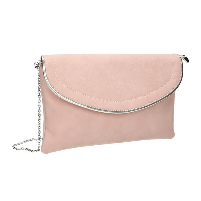 Ružová listová kabelka bata, ružová, 961-5708 - 13