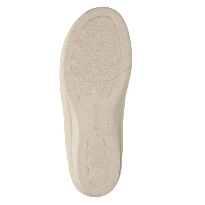 Dámska domáca obuv na podpätku bata, béžová, 579-8611 - 26