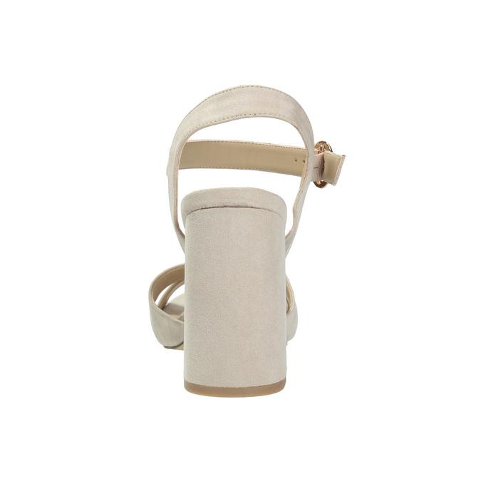Dámske sandále na masívnom podpätku bata, béžová, 769-8602 - 17