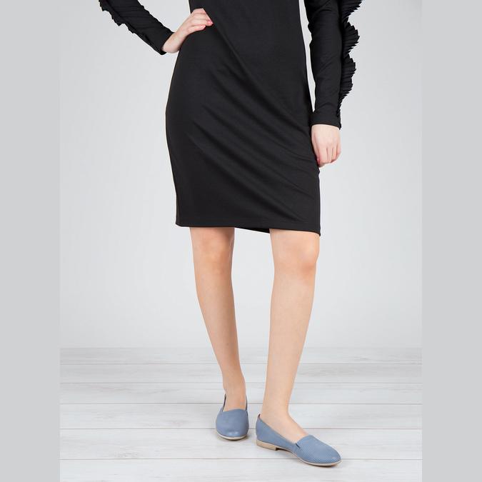 Dámska obuv v štýle Slip-on bata, modrá, 516-9602 - 18