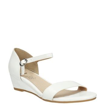 Sandále na klinovom podpätku bata, biela, 661-1601 - 13
