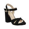 Dámske sandále na masívnom podpätku bata, čierna, 769-6602 - 13