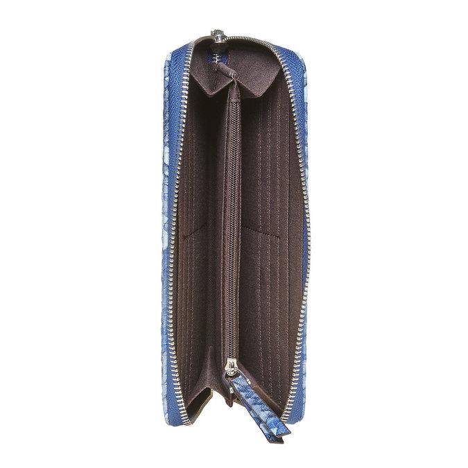Modrá dámska peňaženka so vzorom bata, modrá, 941-9149 - 15