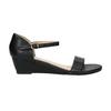 Sandále na klinovom podpätku bata, čierna, 661-6601 - 15