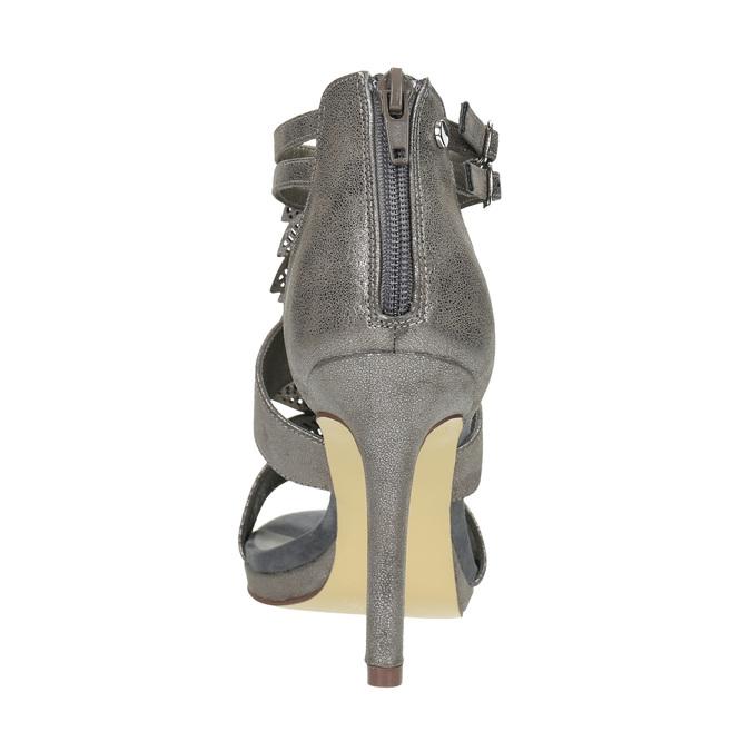 Sandále na ihličkovom  podpätku bata, šedá, 761-2602 - 17