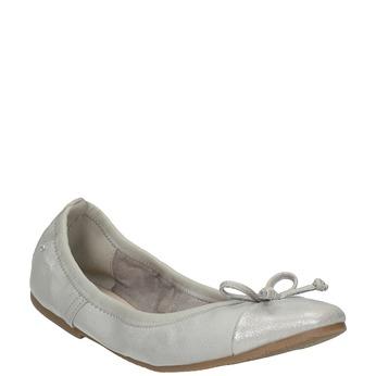 Dámske baleríny s pružným lemom bata, šedá, 521-1601 - 13