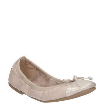Dámske baleríny s pružným lemom bata, ružová, 521-8601 - 13