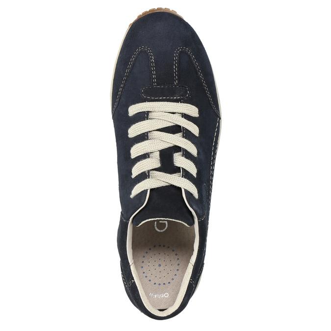 Dámske kožené tenisky gabor, modrá, 626-9205 - 19