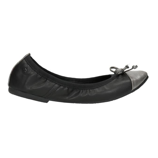 Dámske baleríny s pružným lemom bata, čierna, 521-2601 - 15
