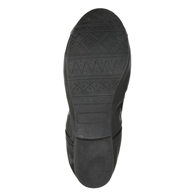 Dámske baleríny s pružným lemom bata, čierna, 521-2601 - 26