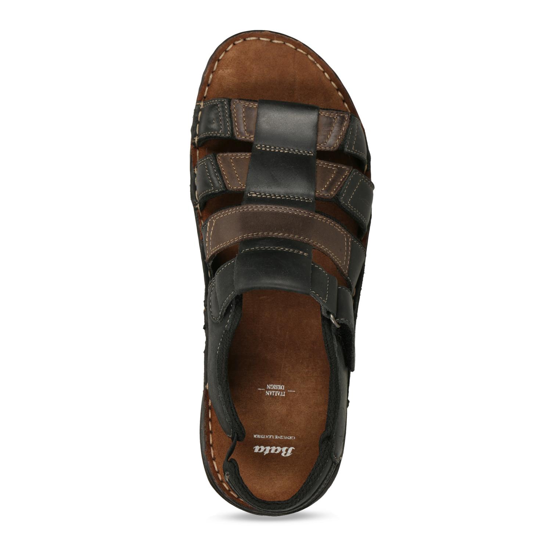 4a059946e729 Baťa Pánske letné sandále z brúsenej kože - Letná kolekcia