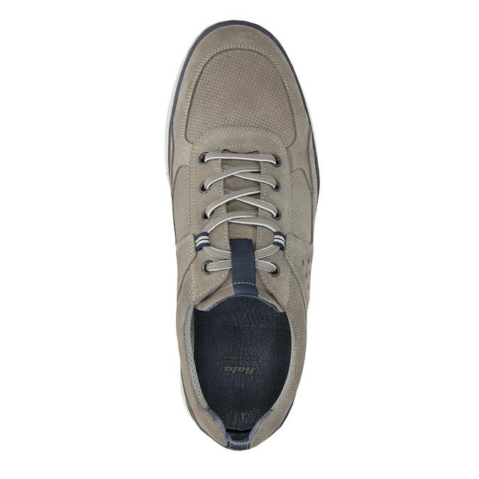 Ležérne kožené tenisky bata, šedá, 843-2627 - 19