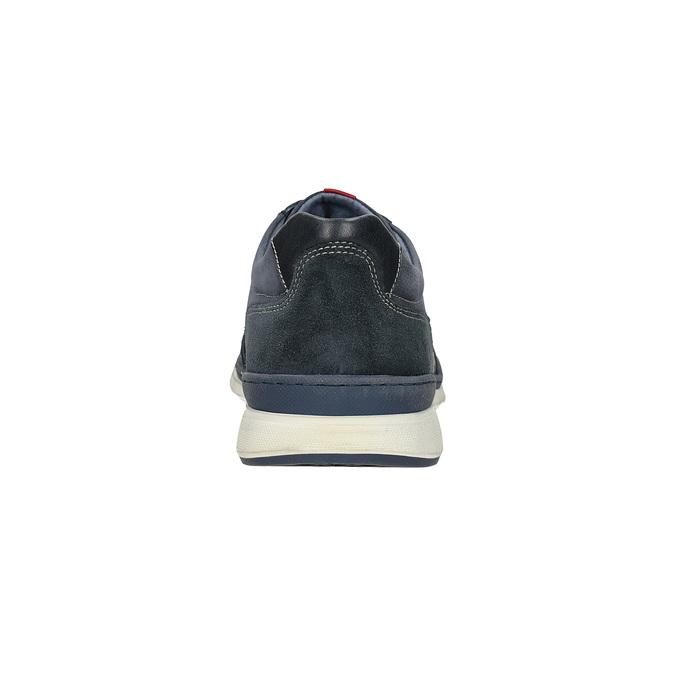 Ležérne tenisky z brúsenej kože bata, modrá, 846-9639 - 15
