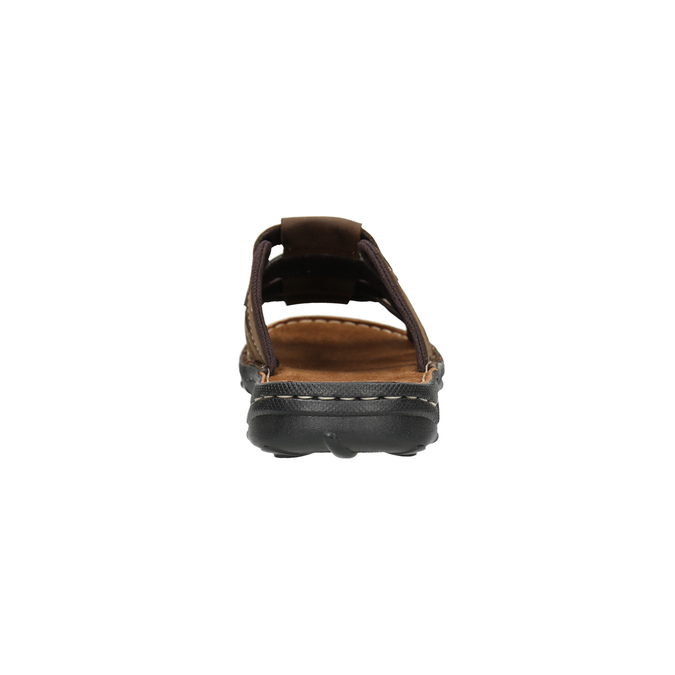 Pánske kožené nazuváky bata, hnedá, 866-4611 - 17