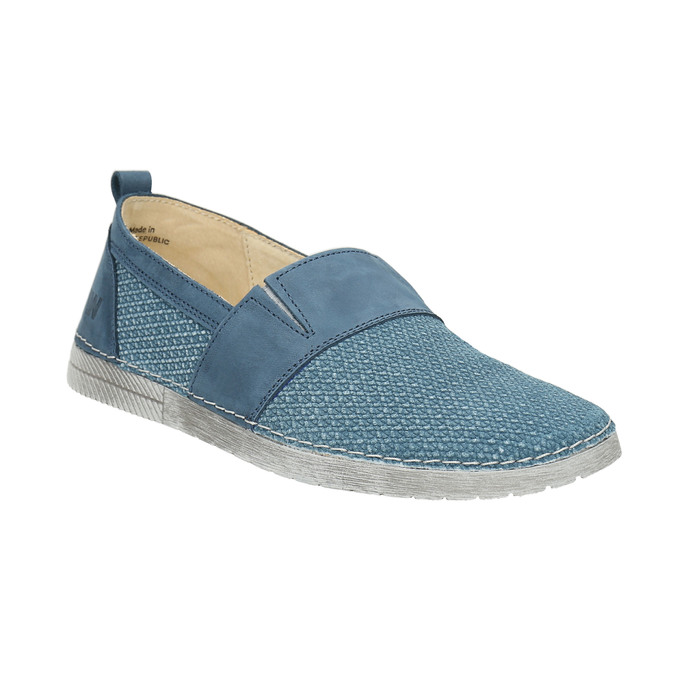 Kožené Slip-on modré weinbrenner, modrá, 513-9263 - 13