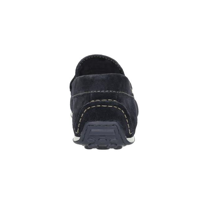 Mokasíny z brúsenej kože bata, modrá, 853-9614 - 17