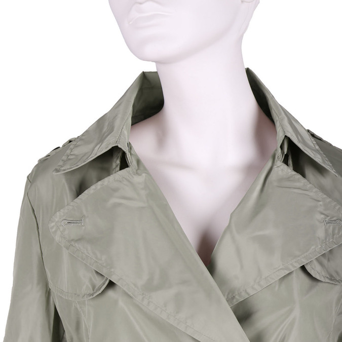 Dámska bunda v trenčkotovom strihu bata, béžová, 979-8205 - 16