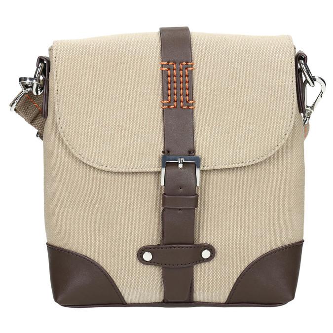 Pánska taška v štýle Crossbody bata, béžová, 969-8284 - 19
