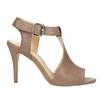 Kožené sandále na ihličkovom podpätku bata, hnedá, 766-4600 - 15