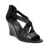 Čierne kožené sandále bata, čierna, 766-6601 - 13