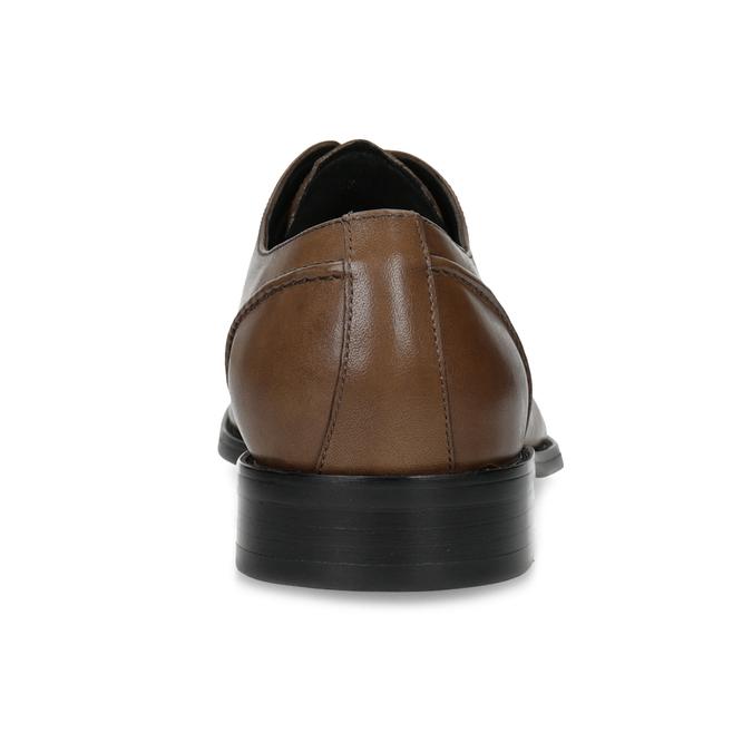 Hnedé kožené pánske Derby poltopánky bata, hnedá, 826-3646 - 15