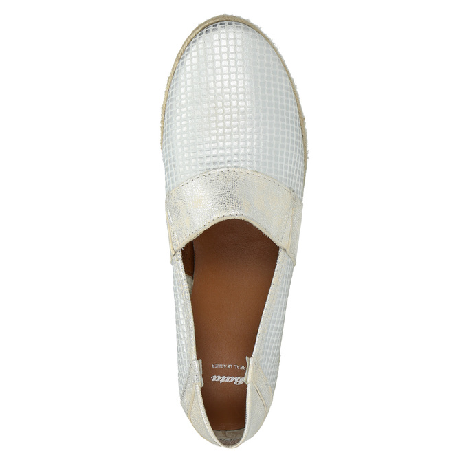 Kožená dámska Slip-on obuv bata, biela, 516-1604 - 19