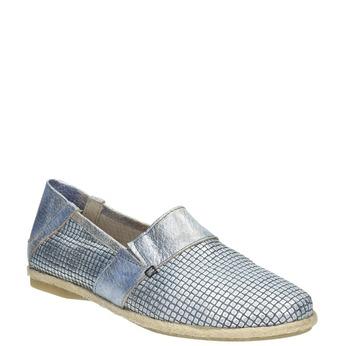 Dámska obuv v štýle Slip-on bata, modrá, 516-9604 - 13