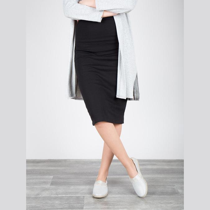 Kožená dámska Slip-on obuv bata, biela, 516-1604 - 18