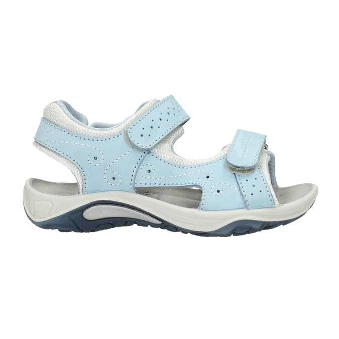 Kožené detské sandále weinbrenner-junior, modrá, 466-9607 - 15