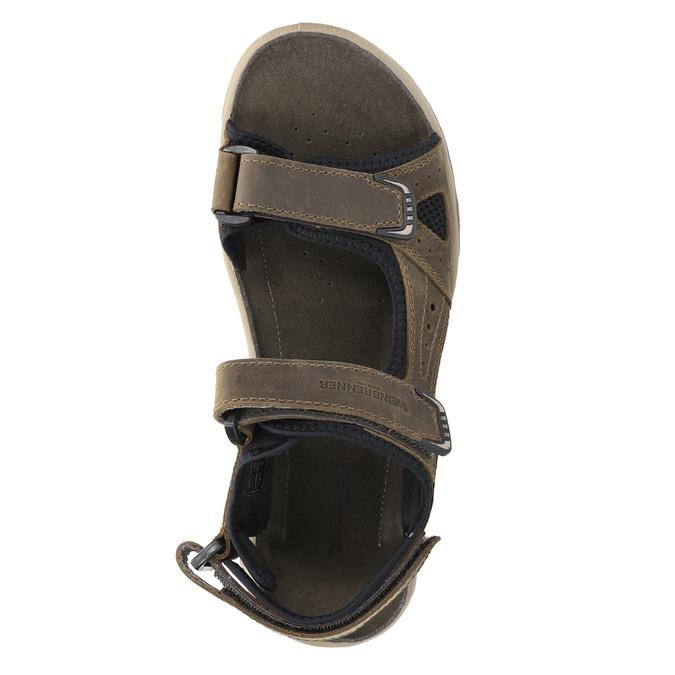Pánske kožené sandále weinbrenner, hnedá, 866-3630 - 19
