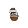 Kožené sandále šírky H bata, biela, 566-1604 - 17