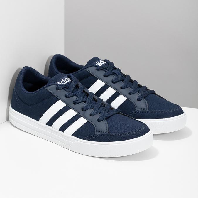 Modré pánske textilné tenisky adidas, modrá, 889-9235 - 26