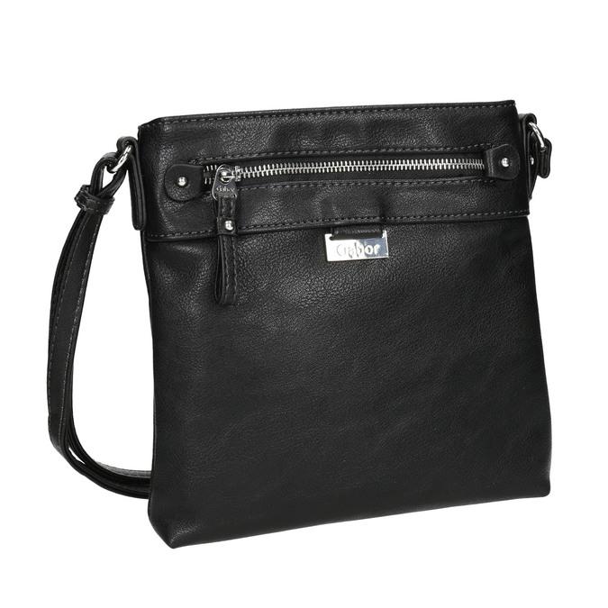 Čierna Crossbody kabelka gabor-bags, čierna, 961-6081 - 13