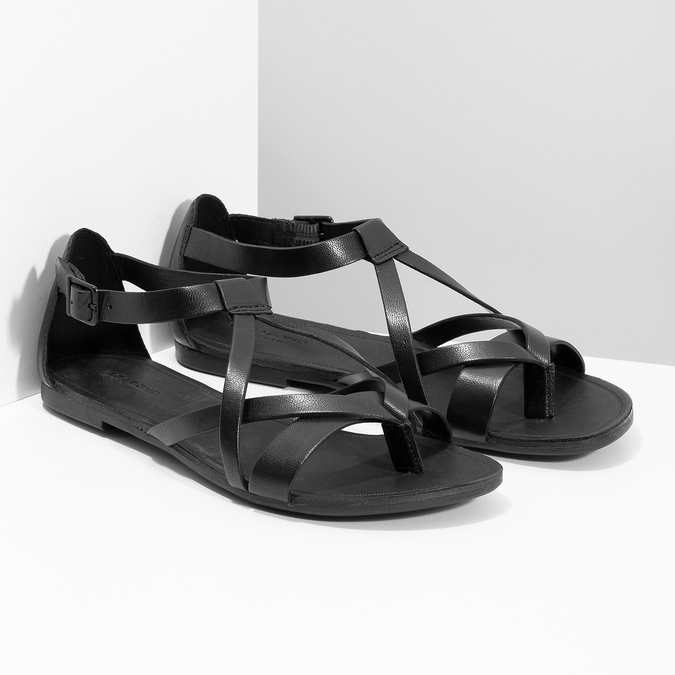 Čierne dámske sandále vagabond, čierna, 564-6017 - 26